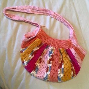 Crocheted hobo purse